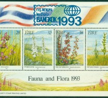 1993 BANGKOK OVERPRINT ON ORCHIDS MIN SHEET